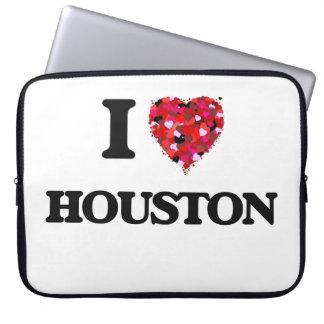 I Love Houston Laptop Sleeve
