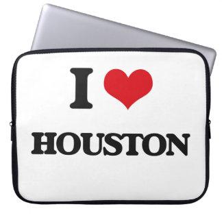 I Love Houston Laptop Sleeves