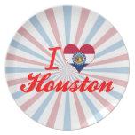 I Love Houston, Missouri Party Plate