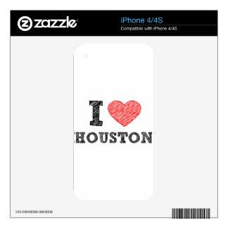 I Love Houston Skins For iPhone 4
