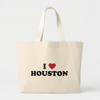 I Love Houston Texas Large Tote Bag