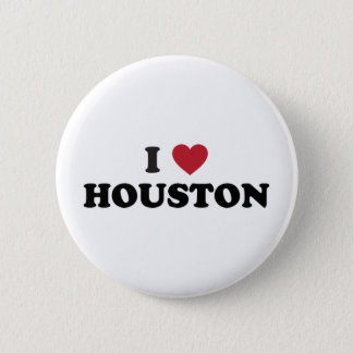 I Love Houston Texas Pinback Button