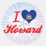 I Love Howard, New York Classic Round Sticker