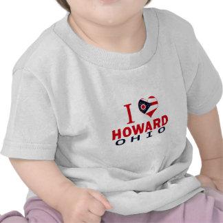 I love Howard, Ohio T Shirt