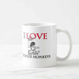I Love Howler Monkeys Classic White Coffee Mug