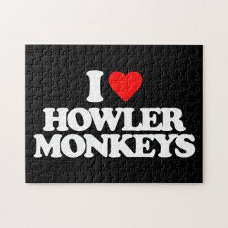 I LOVE HOWLER MONKEYS JIGSAW PUZZLES