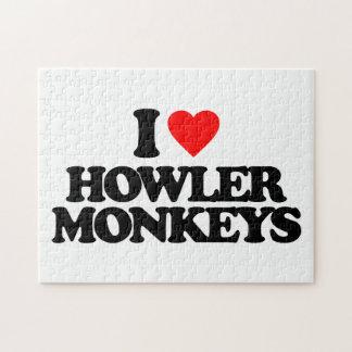 I LOVE HOWLER MONKEYS PUZZLES