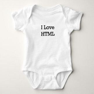 i love html.png baby bodysuit