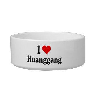 I Love Huanggang, China. Wo Ai Huanggang, China Cat Food Bowl