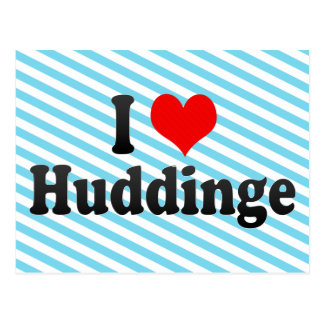 I Love Huddinge, Sweden Postcard