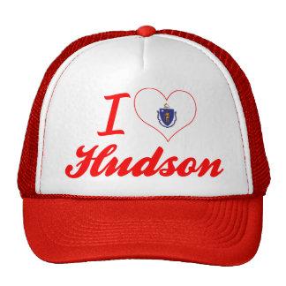 I Love Hudson, Massachusetts Trucker Hat