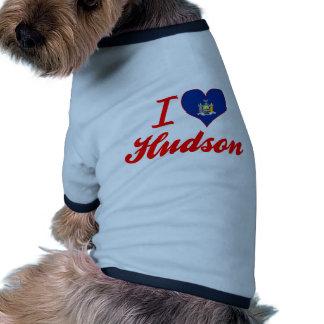 I Love Hudson, New York Dog T Shirt
