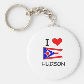 I Love Hudson Ohio Keychain
