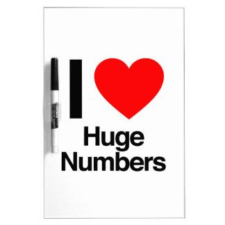 i love huge numbers Dry-Erase whiteboard