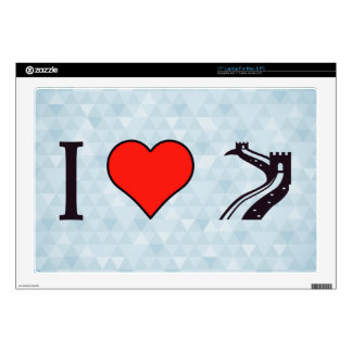 I Love Huge Structures Decal For Laptop