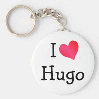 I Love Hugo Keychain