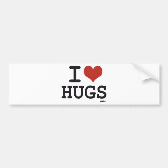 I love Hugs Bumper Sticker