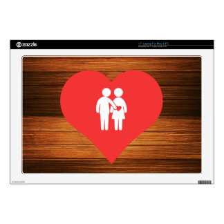 I Love Hugs Cool Symbol Laptop Decal