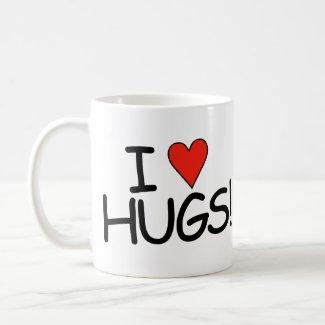 I love Hugs Mug mug
