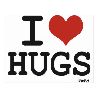 I love Hugs Postcard