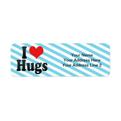I Love Hugs Return Address Labels