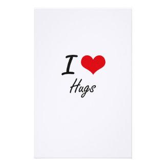 I love Hugs Stationery