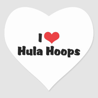 I Love Hula Hoops Heart Sticker