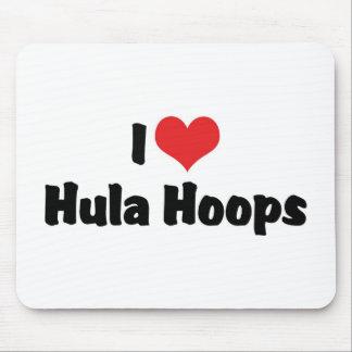 I Love Hula Hoops Mouse Pad