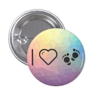 I Love Human Footprint 1 Inch Round Button