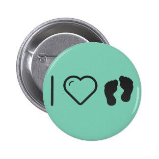 I Love Human Footprint 2 Inch Round Button