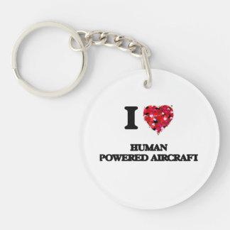 I Love Human Powered Aircraft Single-Sided Round Acrylic Keychain