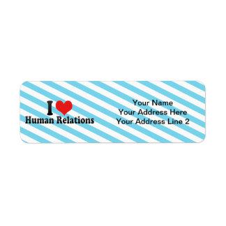 I Love Human Relations Return Address Label