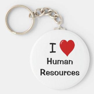 I Love Human Resources Basic Round Button Keychain