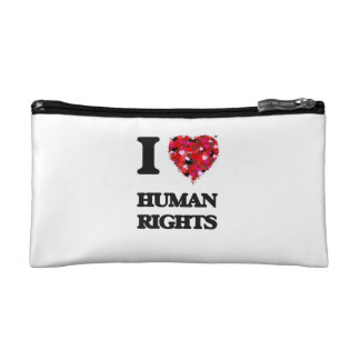 I Love Human Rights Cosmetic Bag