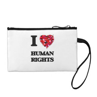 I Love Human Rights Coin Purse