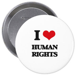 I love Human Rights Button