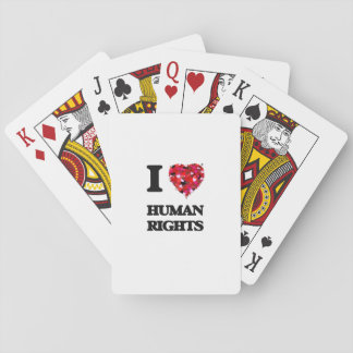 I Love Human Rights Playing Cards