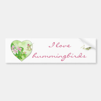 I love Hummingbirds, Bird Collection Bumper Sticker