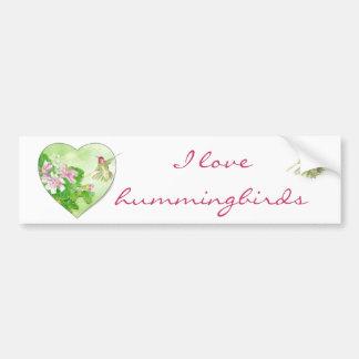 I love Hummingbirds, Bird Collection Bumper Stickers