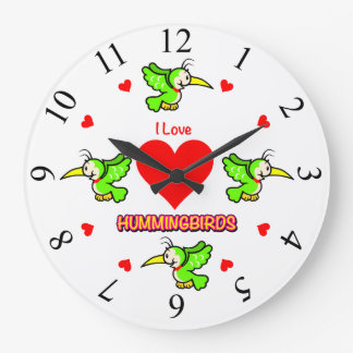 """I Love Hummingbirds"" Clock"