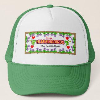 """I Love Hummingbirds"" Morning Glory Hat"