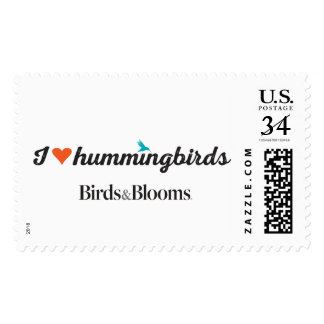 I Love Hummingbirds Postage