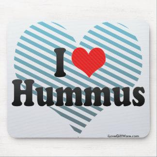 I Love Hummus Mouse Pad