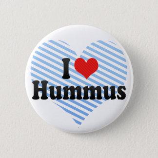 I Love Hummus Pinback Button