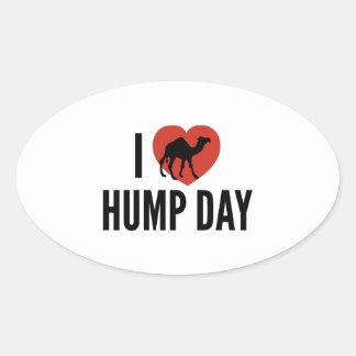 I Love Hump Day Oval Sticker