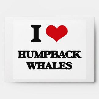 I love Humpback Whales Envelope