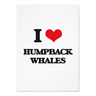 I love Humpback Whales Personalized Invitations