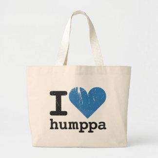 I love Humppa Blue Jumbo Tote Bag