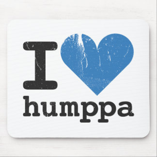 I love Humppa Blue Mousepad