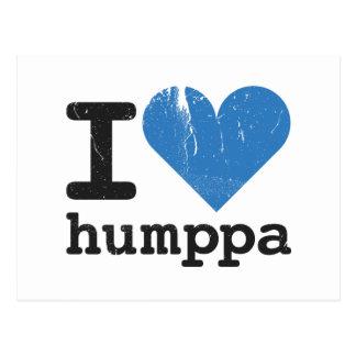 I love Humppa Blue Postcard